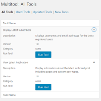Multitool WordPress Plugin Mobile Friendly View