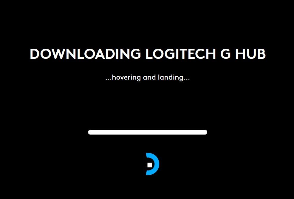 Logitech G Hub will not install Hovering and Landing